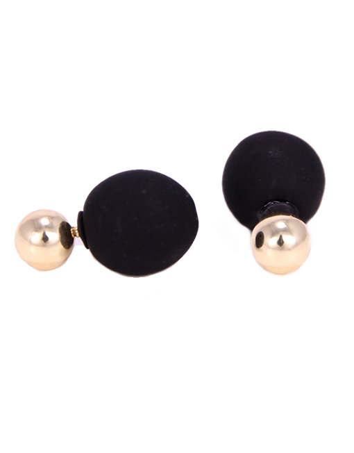 304e4a662c1aae Double Sided Gold & Black Earrings - CONCEPT x Signature9