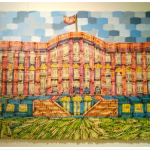 Mike Farrell's Colorful White House, Made of Crayons