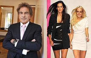 Mounir Moufarrige (L), Estrella Archs and Lindsay Lohan (R)