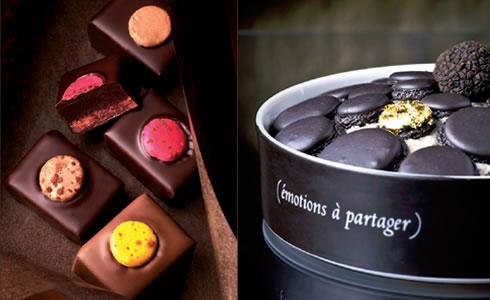Pierre Herme Chocolat au Macaron and Black Truffle Macarons