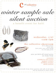 Fashion to the Rescue: Sample Sale and Silent Auction to Aid Haiti