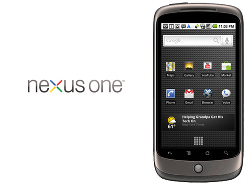 The Nexus One, Google's foray into the world of smartphones.
