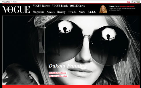 Vogue Italia new website