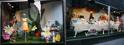 Alice in Wonderland Store Windows