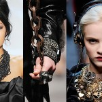 Fall/Winter 2010 statement jewelry from Vera Wang (L), Lanvin (Center) and Dolce &amp; Gabbana (R)
