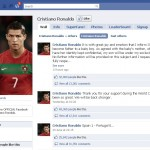 Cristiano Ronaldo's announcement to fans on his Facebook fan page.