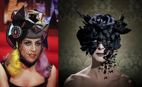 lady gaga telephone hat