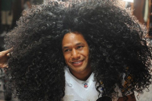 Troy Polamalu and Donald Trump's Hair Takes to Twitter With Brett Keisel's Beard