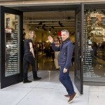 Simon Doonan at Barneys Co-Op in Brooklyn