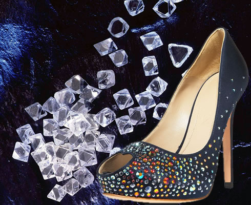Newest Gorgeous Exquisite Diamond Crystal Shoes Sandals With