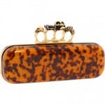 Tortoise Print Alexander McQueen Knuckle Duster Clutch: The Daily Bag
