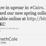 PR Fail: Kenneth Cole's Careless Cairo Tweet / Egypt Hashtag Hijack