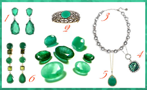 8ea9caf4c Oscar Inspired Green Jewelry | Signature9