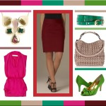 Color Blocking: Maroon, Pinks and Greens