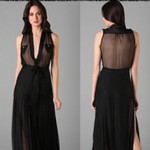 DSquared² Natasha Long Dress: Little Black Dress of the Week