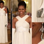 The Look Of: Michelle Obama in Tom Ford at the Buckingham Palace State Dinner