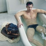 Michael Phelps Takes a Bath for Louis Vuitton