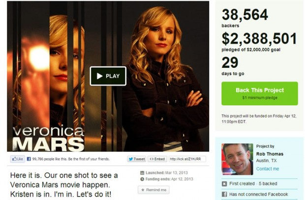 Veronica Mars the Movie Raises $2.4 Million In Less Than 24 Hours