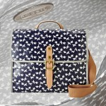 Fossil Coated Canvas Bird Print Key-Per Shoulder Bag