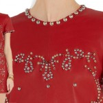 Isabel Marant Studded Red Leather Dress