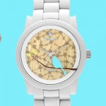 Sprout Eco-Friendly Bird Print Dial Watch