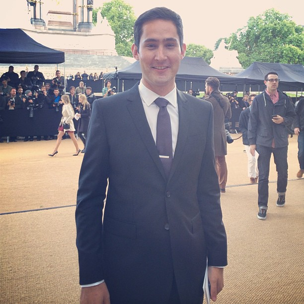 Kevin Systrom outside the Burberry Spring/Summer 2014 Show at London Fashion Week
