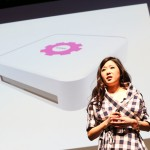 Grace Choi presenting the Mink 3D Printer