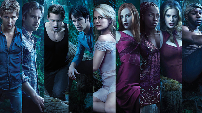 True Blood cast members in character