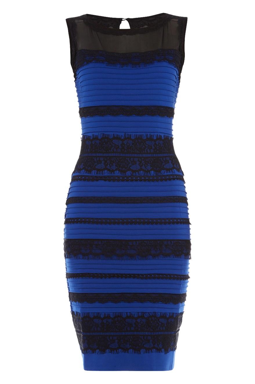 Фото платье сине черного